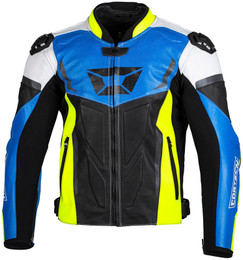 Cortech Apex V1 Blue Hi-Viz Jacket