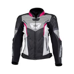 Cortech Apex V1 Raspberry Gray Womens Jacket
