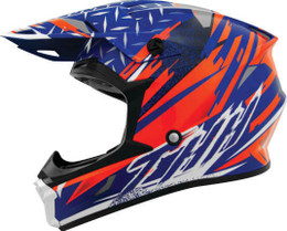 THH T710X Assault Blue Orange Helmet