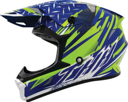THH T710X Assault Blue Yellow Helmet