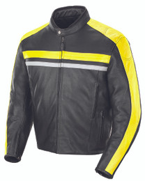 Joe Rocket Old School 2.0 Jacket Black Yellow