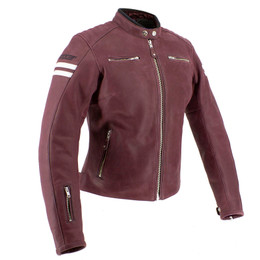Joe Rocket Classic 92 Ox Blood Cream Womens Jacket