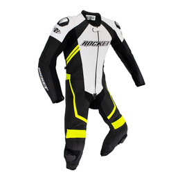 Joe Rocket Speedmaster 7 Black White 1-piece Race Suit