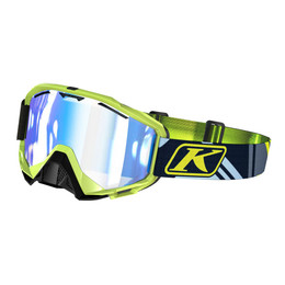 Klim Radius Goggle Tenacious Smoke Tint Blue Mirror size
