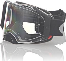 Oakley Airbrake Tuff Blocks Black Gunmetal Clear MX Goggle