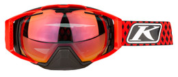 Klim Oculus Goggle Diamond Fade High Risk Red Smoke Mirror and Clear
