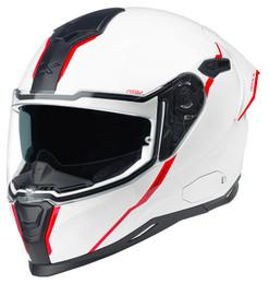 Nexx SX100R Shortcut White Red Helmet