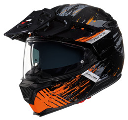 Nexx X-Vilijord Mudvalley Black Orange Helmet