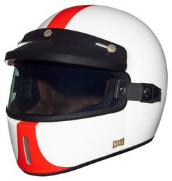 Nexx XG100 Half Mile Red White Helmet