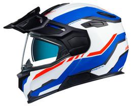 Nexx X-Vilijord Continental White Blue Red Helmet