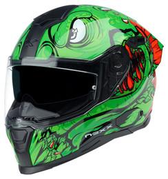 Nexx SX100R Abisal Green Red Helmet