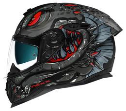 Nexx SX100R Abisal Matte Black Red Helmet