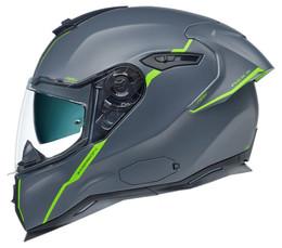 Nexx SX100R Shortcut Matte Grey Green Helmet