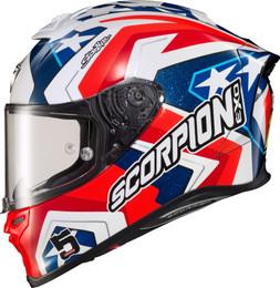 Scorpion Exo-R1 Air Full Face Bautista LS Helmet Red White Blue