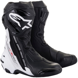Alpinestars Supertech R v2 Black White Vented Boots