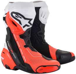 Alpinestars Supertech R v2 Black Red Flouro Vented Boots