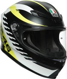 AGV K6 Black Yellow Rapid 46 Helmet
