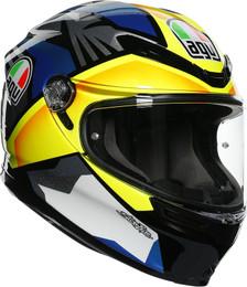 AGV K6 Black Blue Yellow Joan Helmet