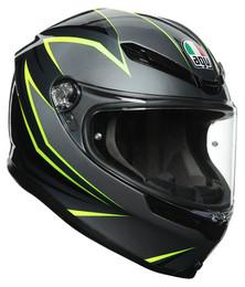AGV K6 Gray Black Lime Flash Helmet