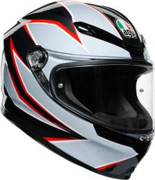 AGV K6 Black Gray Red Flash Helmet