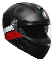 AGV SportModular Layer Carbon Red White Helmet