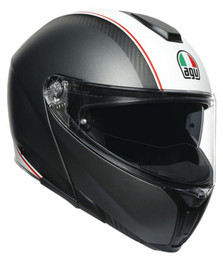 AGV SportModular Cover Matte Gunmetal White Helmet