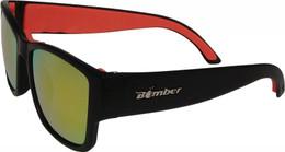 Bomber Gomer Bomb Floating Eyewear Matte Black W/Red Mirror Lens - GM101-RM-RF