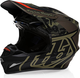Troy Lee Designs GP Overload Camo Army Green Gray Helmet