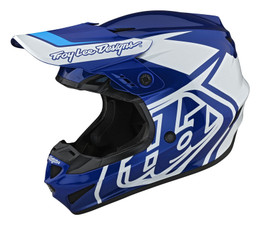 Troy Lee Designs GP Overload Blue White Youth Helmet
