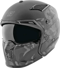 Speed and Strength SS2400 Black Camo Call To Arms Helmet