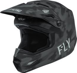 Fly Racing Kinetic S.E. Tactic Matte Grey Camo Youth Helmet