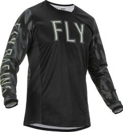 Fly Racing Kinetic Black Grey Camo S.E. Tactic Jersey