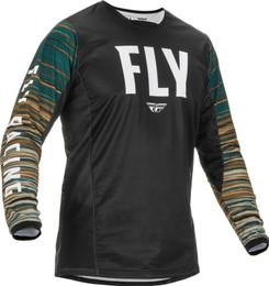 Fly Racing Kinetic Black Rum Wave Jersey