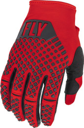 Fly Racing Kinetic Red Black Gloves