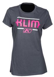 Klim Kute Corp Charcoal-Knockout Pink Womens Short Sleeve Tee
