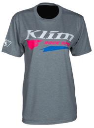 Klim Race Spec Gray-Knockout Pink Short Sleeve Tee