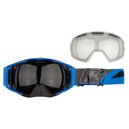 Klim Oculus Electric Blue Lemonade-Photochromic Clear to Smoke Dissent Goggle