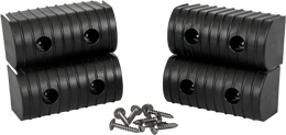 Caliber Bunk Wrap End Cap Kit 2X4 4/Pack W/ Hardware Black - 23051-BK