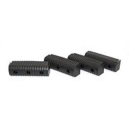 "Caliber Bunk End Caps 2X6"" Black 24/Pk - 23074-BK"