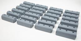 "Caliber Bunk End Caps 2X6"" Grey 24/Pk - 23074"