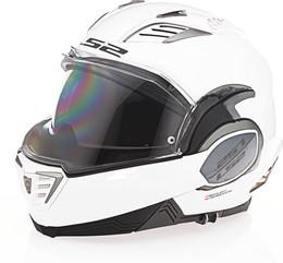 LS2 Valiant II Solid Gloss White Helmet
