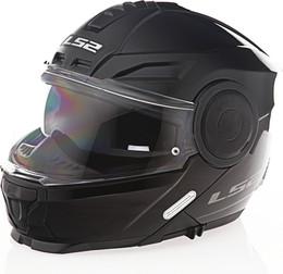 LS2 Horizon Solid Modular Motorcycle Helmet Gloss Black