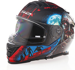LS2 Assault I Heart Brains Gloss Black Glow Helmet