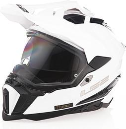 LS2 Explorer Solid Gloss White Helmet