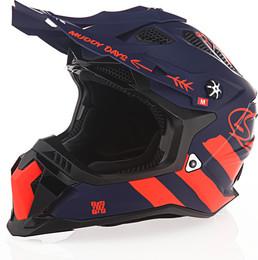 LS2 Subverter Evo Cargo Matte Blue Flourescent Orange Helmet