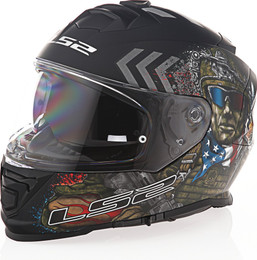 LS2 Assault Commando Black Camo Helmet