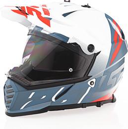 LS2 Blaze Sprint Gloss White Red Gray Helmet