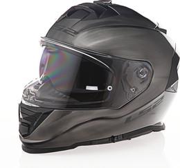 LS2 Assault Solid Gloss Brushed Alloy Helmet
