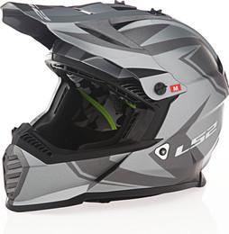 LS2 Gate TwoFace Matte Gray Black Helmet