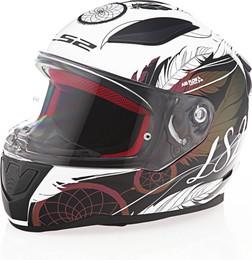 LS2 Rapid Dream Catcher Gloss Chameleon White Helmet
